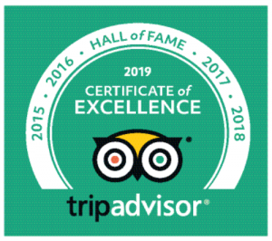 Tripadvisor Certificate of Excellence 2019 The Old White Lion Hotele