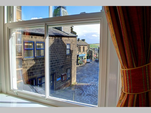 Bedroom View down Haworth Main Street
